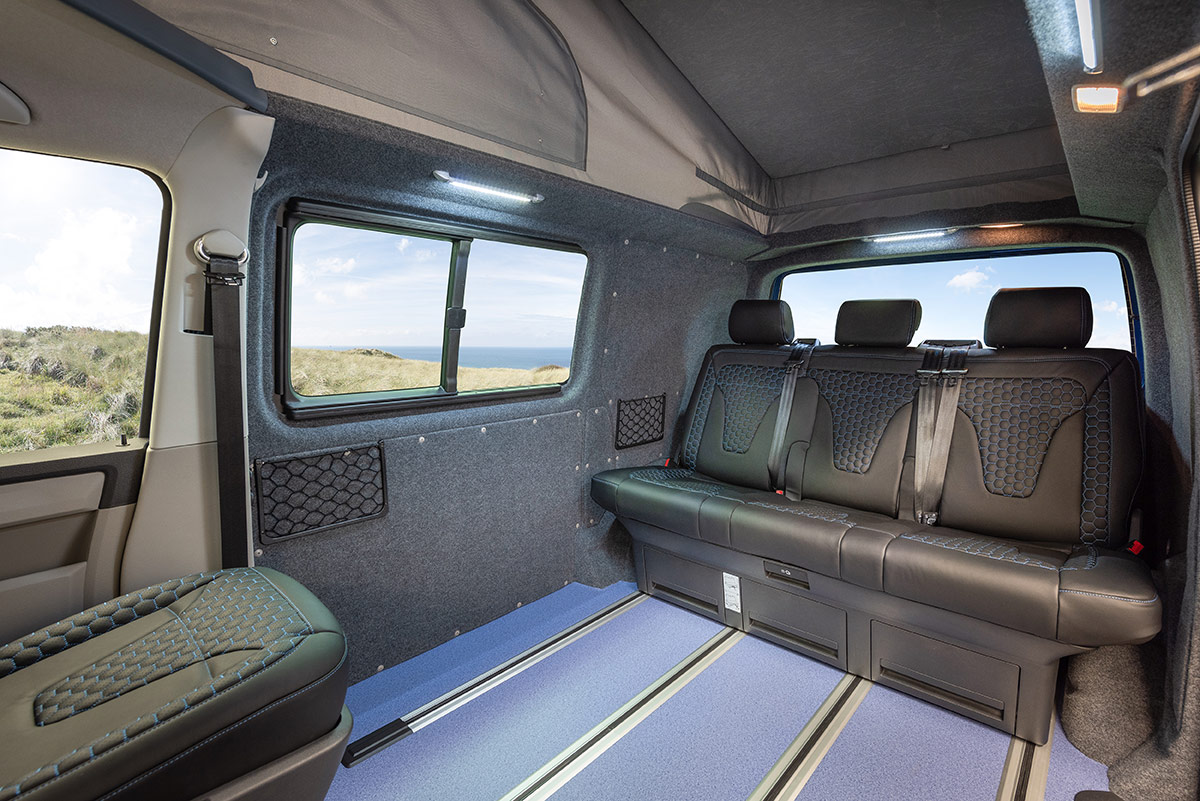 Interior of B-Active VW Campervan Conversion