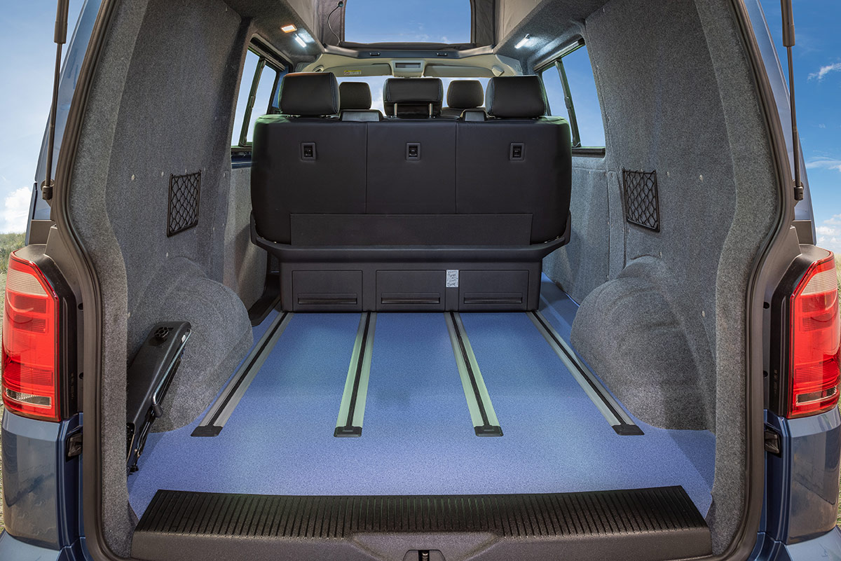 Rear view of b-active VW Campervan Conversion
