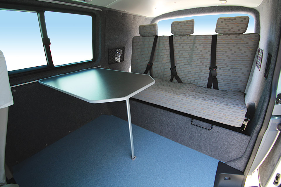 The interior of the VW Coastliner Campervan Conversion
