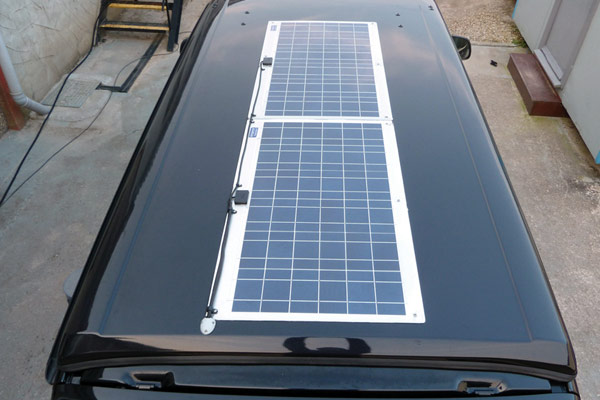 Solar panels for VW Transporter Campervan