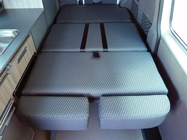 Bed extension for VW Camper