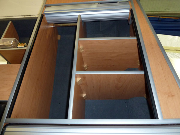 Rear cupboard shelves for VW Campervan