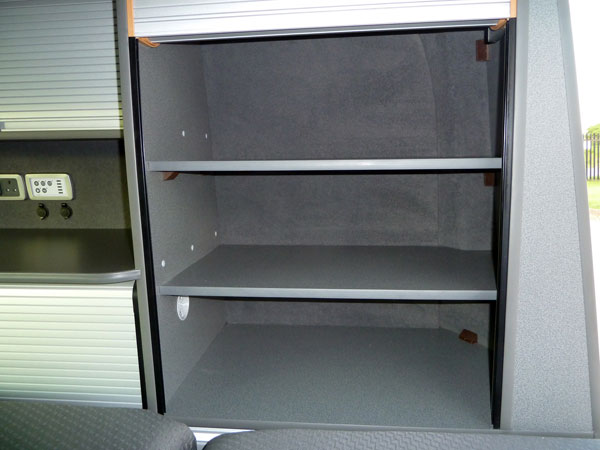 Rear Wardrobe Shelves for VW Campervan