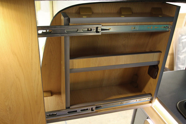 VW sliding privacy top locker