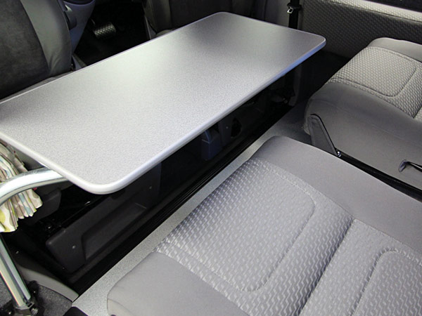 Swan neck floating table for VW Campervan