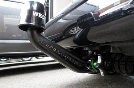 Westfalia quick release tow bar