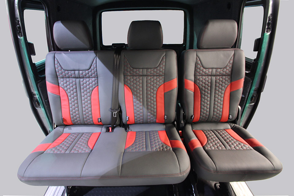 Rear passenger leather seats