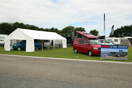 Mal-VW exhibiting at the Campervan Show in Exeter
