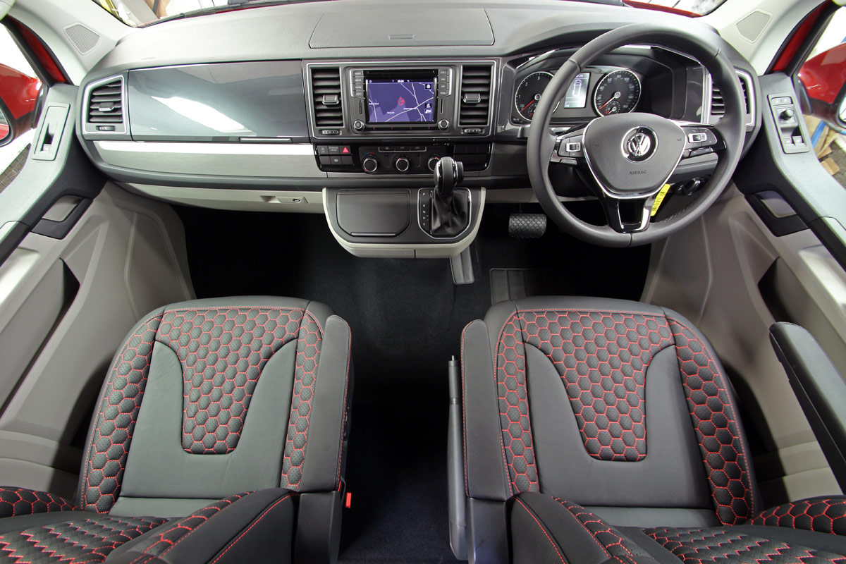 Interior showing dashboard