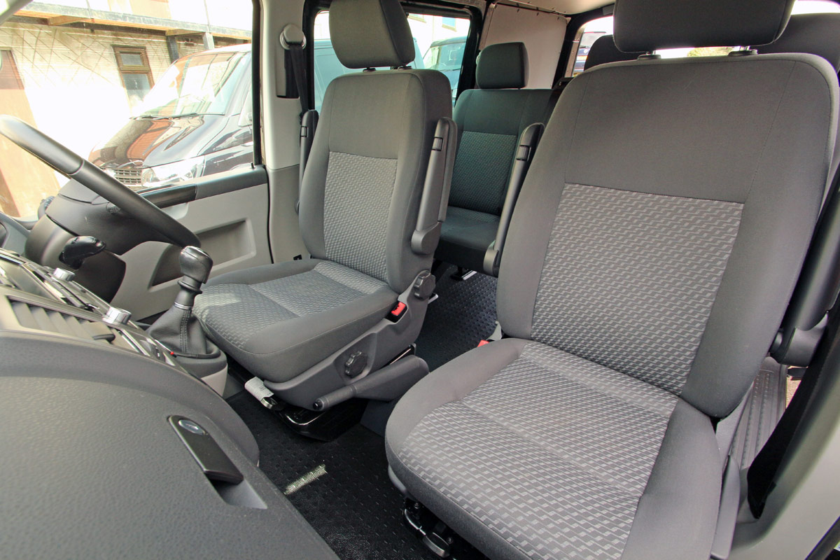 Showing front and rear seating arrangement from left hand side