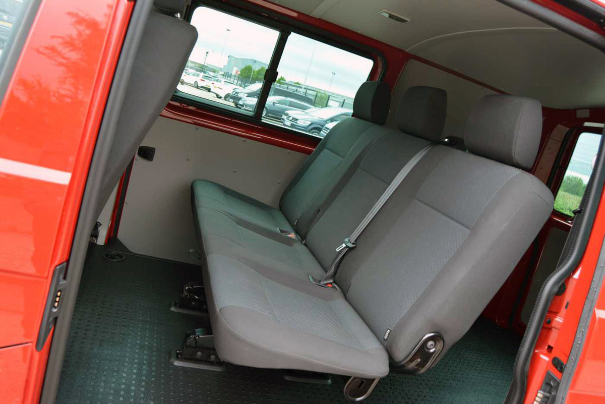 Side door open showing passenger seats