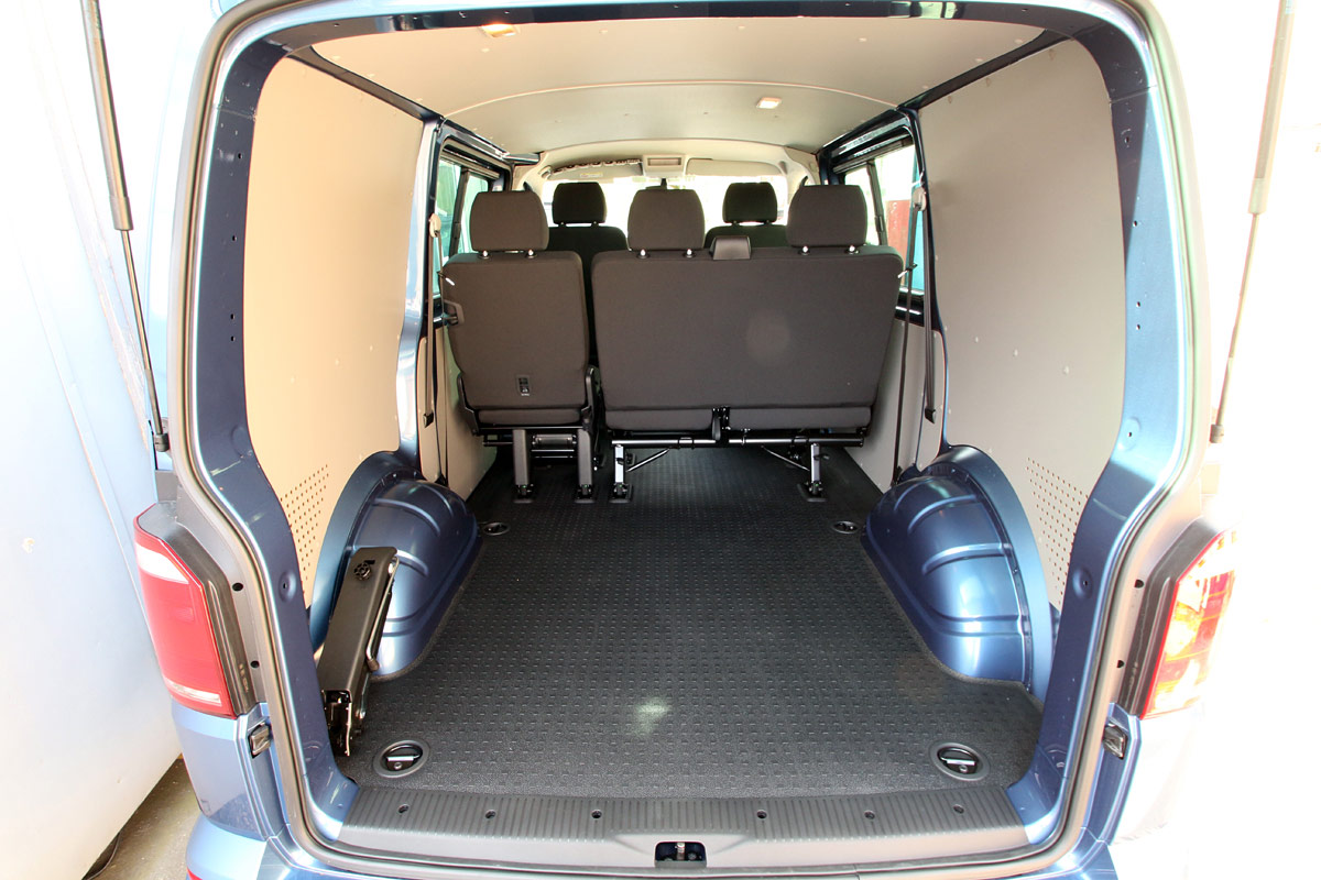 Photo of VW T6 Transporter from the rear