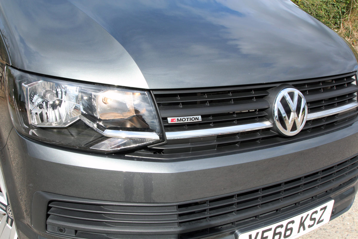 Close up of the VW badge and 4 Motion Badge