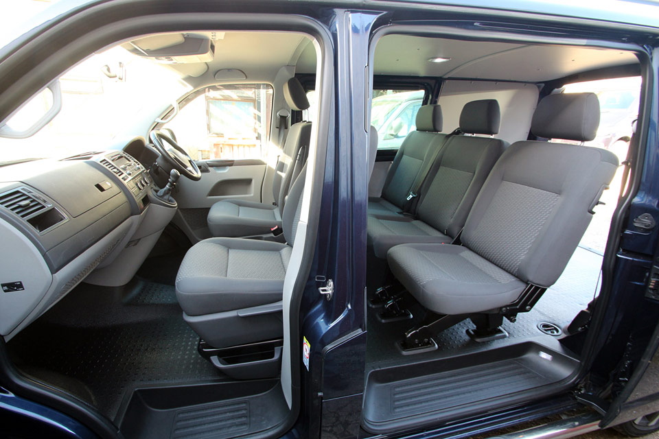 Showing front and rear seating arrangement