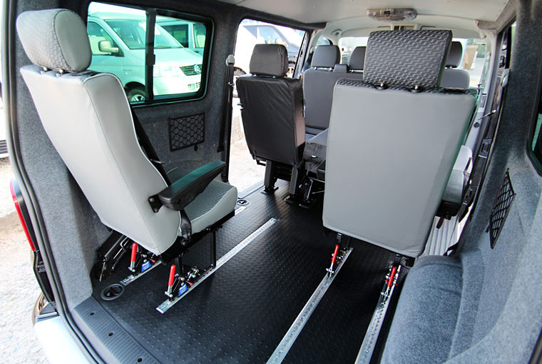 VW transporter with upgraded rear seats